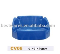 Wholesale custom square blue plastic melamine funny ashtray