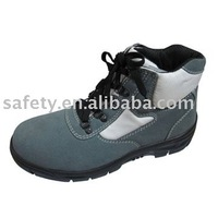 Feet protective steel toe cap steel mid sole suede leather work shoes