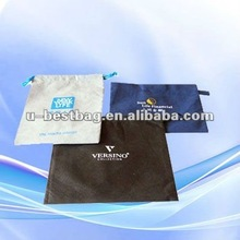 Easy to carry drawstring non-woven message bag