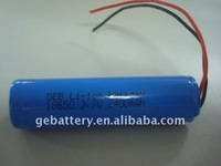 3.7v li-ion polymer battery 18650 used in flashlight, LED torch