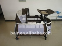 High quality large playpen for babies baby carry cot folding crib sleeping bed grey two layer baby playpen