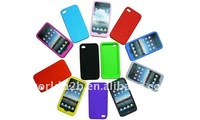 High quality tyre vein silicon skin cover for iphone 4