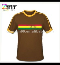 100% cotton form-fitting t-shirt with stripes for men
