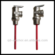 Temperature and Pressure Relief valve with nickel plated