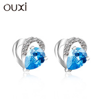 OUXI 2016 wholesale unique fashion earing from korea Made With Crystal Y20246