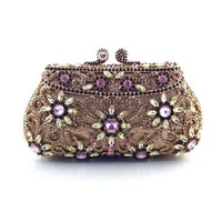 Fashion wholesale crystal clutch bags