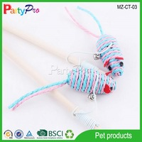 2015 Promotional Gifts Exquisite Knitted Indoor Cats Toy Mice with Bell Pet Toy