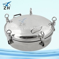 Food grade stainless steel oil tank manhole cover