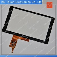OEM Elegant designed capacitive touch screen panel with Black cover glass