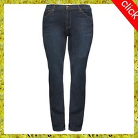 Female show little fat jeans, latest fashion edition branded jeans export European
