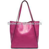 High Capacity tote travel bag soft genuine leather duffle bag