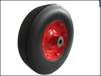 10 inch solid rubber wheel for hand trolley made in china