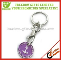 Hot Promotional Trolley Coin Key Holder