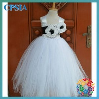 Fashion tulle long Dress Tutu Grown 3 Layers fluffy tutu dress set
