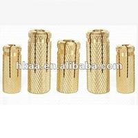 All Kinds Of brass Knurled drop in anchor in china OEM factory