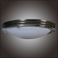 UL Nickel Ceiling Fixture Light/Hospitality Fixture With Glass Diffusr C20013