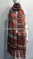 100% knitted big scarf cashmere