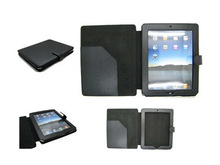 New book style smart cover leather case for ipad2 with id card slot