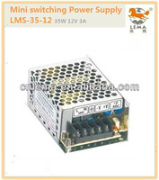 LMS-35-12 35W 12V 3A Mini single output switching power supply smps switch mode power supply