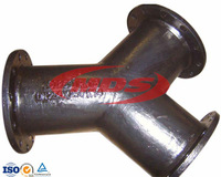 Ductile Iron Y Branch Pipe Fittings