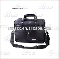 Leather Laptop Trolley Bags 15.6 Inch Laptop Bag