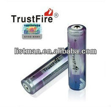 2012 TrustFire 2012 new style 2000mah with pcb 3.7v 18650 trustfire battery