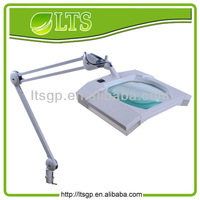 LED magnfiying task light,clamp-on, 6W;Square glass magnifier len