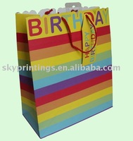 rainbow paper gift bag