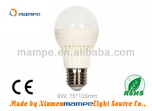 9W LED Bulb White Global Lamps