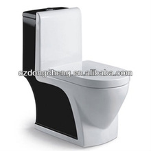 One piece color Ceramic wc toilet parts