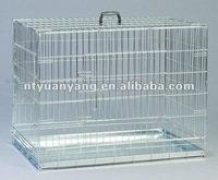 high quality zinc plated for flamingo two doors foldable iron dog cages dog crate