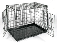 high quality double doors folding metal kennel