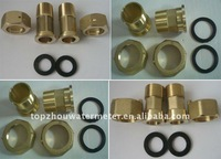 Brass connector for water meter DN15-50mm