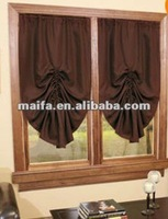 Pull-Up Blackout Curtain Brown Ivory Burgundy & Energy Saver