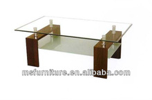 high gloss coffee table newest style hot sale dark color glass top side table wooden bench table