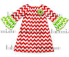 Baby red chevron peasant dresses DR 1511