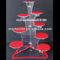 lighted acrylic cake stand for wedding decoration(S-566)