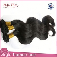 Wholesale high quality 6A no Tangle No Shedding unprocessed body wave malaysian human hair extensions star wave