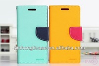 For HTC M7 Soft Leather + TPU Colorful Phone Case