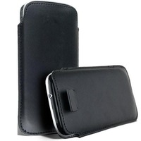 ADALMC - 0017 Cheap Personalised Black Mobile Cover / Superior Quality Genuine Leather Mobile Case / Black Mobile Cover