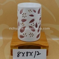 promotional gifts ceramic aroma oil burner with tealight candle