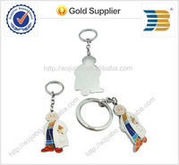 hot sells High quality cheap cost custom design Zinc alloy material cartoon metal keychain