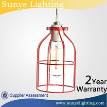 Vintage Iron Cage Edison bulb cage for modern colored glass chandeliers