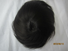 Chinese knot hair weaving closure hand tied wig full hand made 100% human hair good sale PU net bottom man and woman toupee