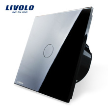 Livolo Electric Switch EU standard 220V/50~60Hz,Luxury Crystal Glass Panel Wall Light Switch VL-C701-12