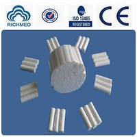 disposable medical dental cotton roll 8x 38mm, 10x38mm ,12 x 38mm , CE and ISO13485