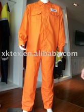 Orange water &oil repellent and anti-fouling workwear and coverall