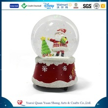 Christmas glass snow globe clear water globe for souvenir decoration
