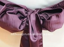 Fashion satin sash for wedding and banquet chair cover