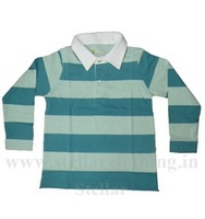 KIDS YARN DYED FULL SLEEVE POLO T-SHIRT